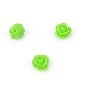 Trandafir rasina cu gaura, 9mm - verde