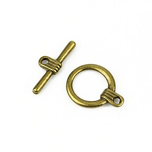 Inchizatoare toggle bronz 20x15,5mm