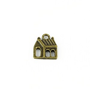 Charm bronz casa 15x13mm