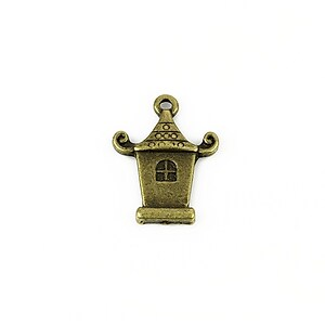 Charm bronz pagoda 21,5x16mm