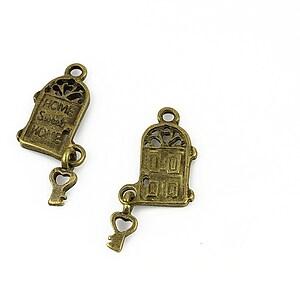 Charm bronz usa cu cheie 26x9mm