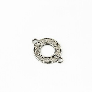 Link argintiu antichizat 20x15mm