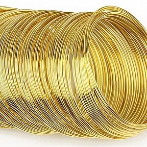 Sarma cu memorie otel, auriu, 5,5cm, grosime 1mm (10 spire)
