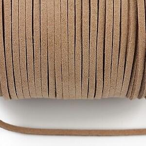 Snur suede (imitatie piele intoarsa) 3x1mm, beige (1m) - cod 174
