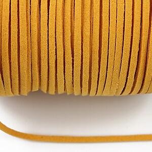Snur suede (imitatie piele intoarsa) 3x1mm, portocaliu (1m) - cod 179