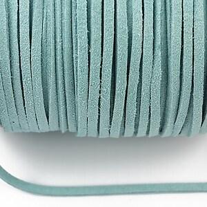 Snur suede (imitatie piele intoarsa) 3x1mm, bleu (1m) - cod 192