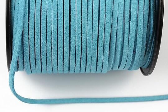 Snur suede (imitatie piele intoarsa) 3x1mm, bleu (1m) - cod 194