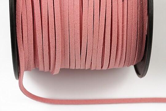 Snur suede (imitatie piele intoarsa) 3x1mm, roz deschis (1m) - cod 203