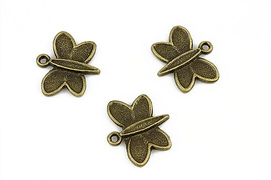 Charm bronz fluture 18x20mm