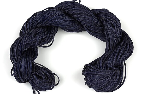 Ata nylon, grosime 1mm, 28m,  albastru inchis