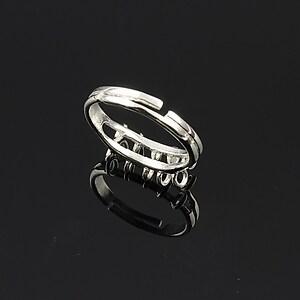 Baza de inel argintie, reglabila, 10 bucle