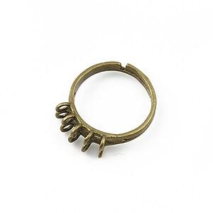 Baza de inel bronz, reglabila, 10 bucle