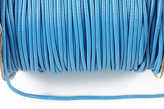 Snur cerat grosime 2mm, albastru (1m)