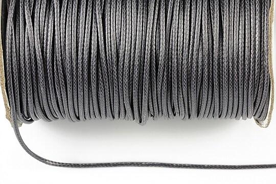 Snur cerat grosime 1,5mm, gri inchis (1m)