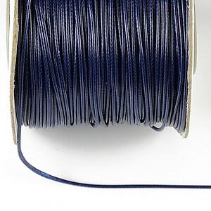 Snur cerat grosime 1mm, albastru inchis (1m)