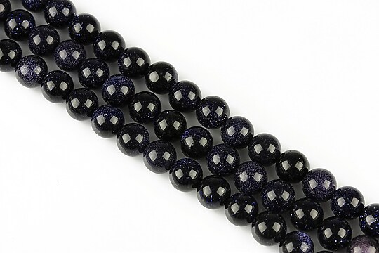 Blue Goldstone sfere 6mm