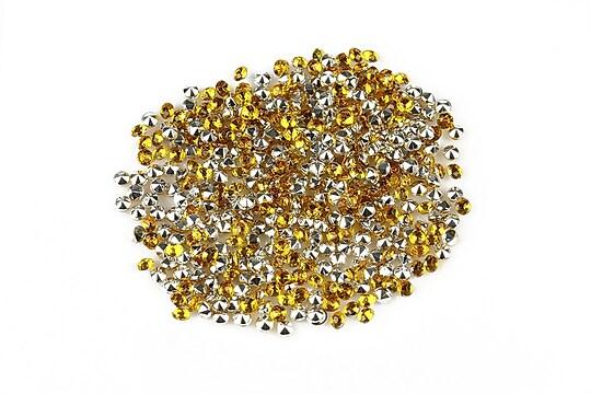 Cabochon rhinestone 2mm (20 buc.) - auriu