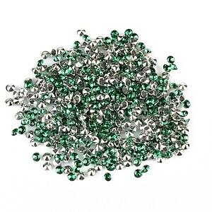 Cabochon rhinestone 2mm (20 buc.) - verde smarald