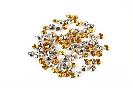 Cabochon rhinestone 3,5mm (20 buc.) - auriu