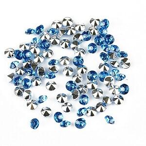 Cabochon rhinestone 3,5mm (20 buc.) - albastru