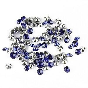 Cabochon rhinestone 3,5mm (20 buc.) - albastru inchis