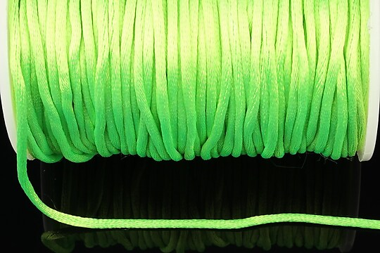 Snur sintetic satinat grosime 2mm (1m) - verde lime