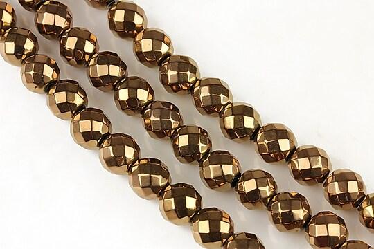 Hematit aramiu sfere fatetate 8mm