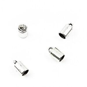 Capat de snur argintiu 9x5mm, interior 5mm