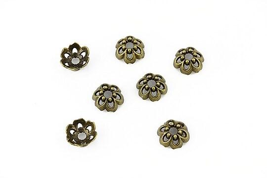 Capacele margele bronz 8mm