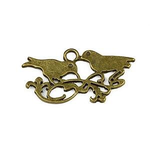 Pandantiv bronz pasarele 18x35mm