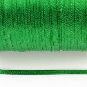 Snur saten latime 3mm (1m) - verde