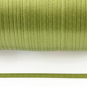 Snur saten latime 3mm (1m) - verde olive