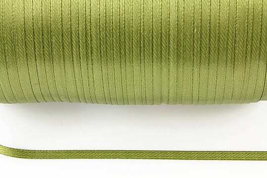 Snur saten latime 3mm (1m) - verde olive
