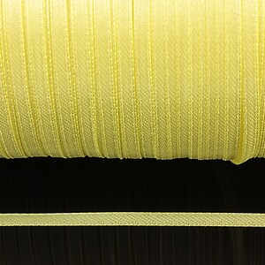 Snur saten latime 3mm (1m) - galben