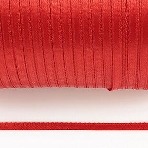 Snur saten latime 3mm (1m) - rosu