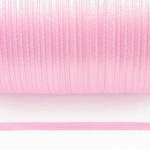 Snur saten latime 3mm (1m) - roz deschis