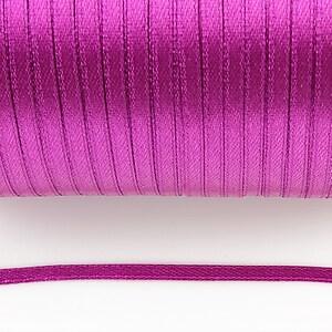 Snur saten latime 3mm (1m) - magenta
