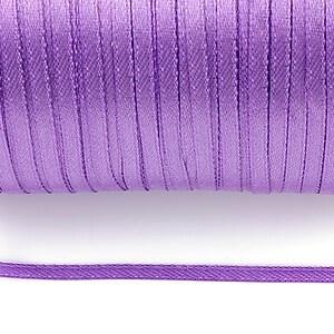 Snur saten latime 3mm (1m) - mov