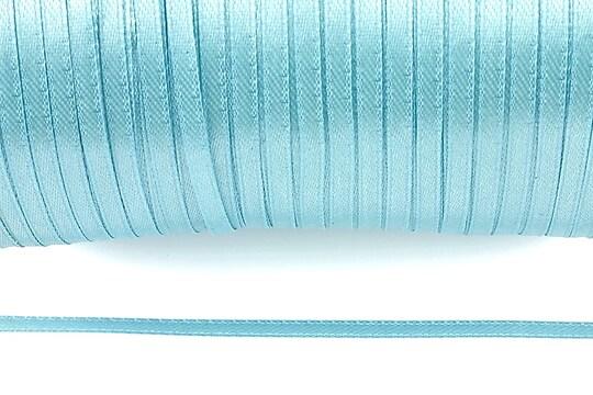 Snur saten latime 3mm (1m) - bleu