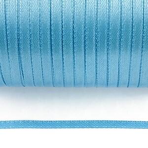 Snur saten latime 3mm (1m) - albastru