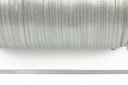 Snur saten latime 3mm (1m) - gri