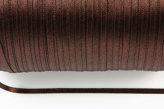 Snur saten latime 3mm (1m) - maro