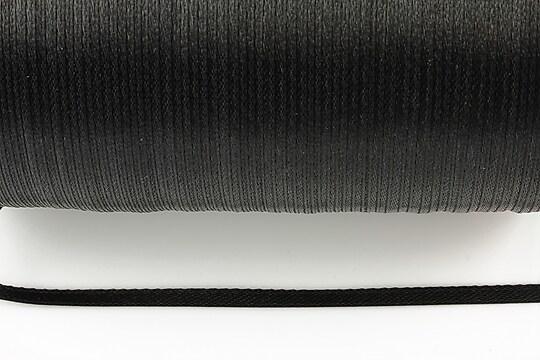 Snur saten latime 3mm (1m) - negru