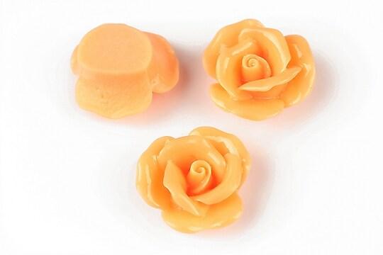 Cabochon rasina trandafir 20mm - portocaliu