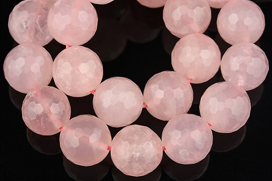 Cuart roz sfere fatetate 12mm