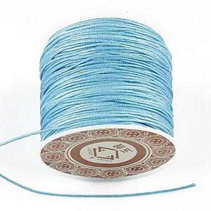 Snur Shamballa grosime 1mm, rola de 35m - albastru deschis