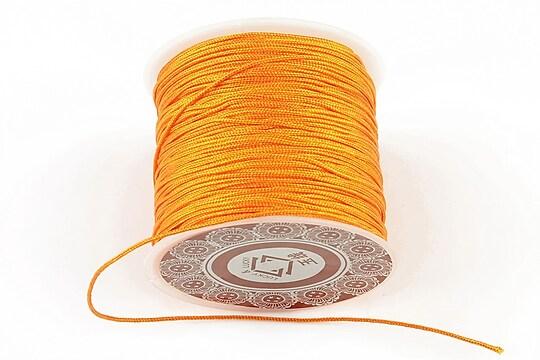 Snur Shamballa grosime 1mm, rola de 35m - portocaliu