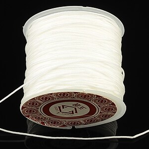 Snur Shamballa grosime 1mm, rola de 35m - alb