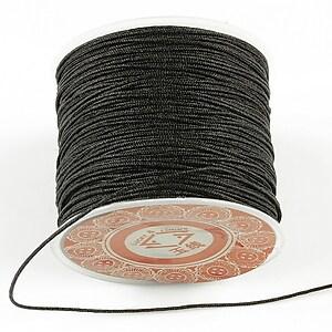 Snur Shamballa grosime 1mm, rola de 35m - negru