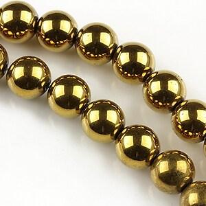 Hematit auriu sfere 10mm